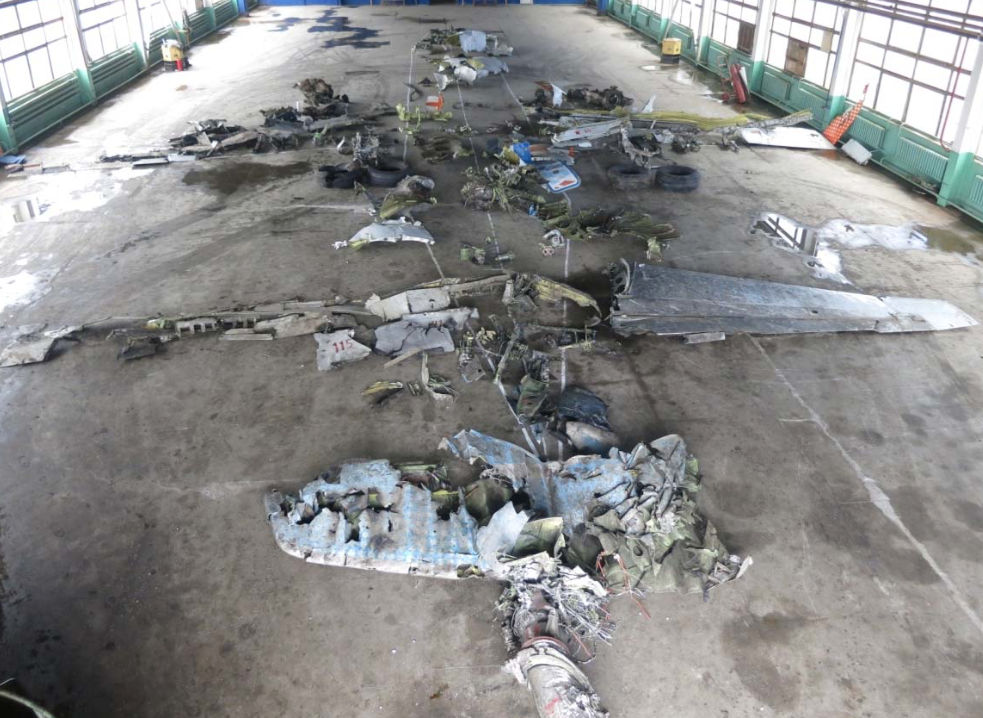 FZ981 wreckage reconstruction