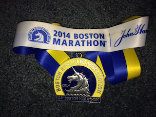 Todd's finisher's medal
